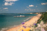 Bournemouth Pier and bathing beach